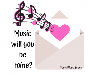 Valentines Day Music Sticker Piano